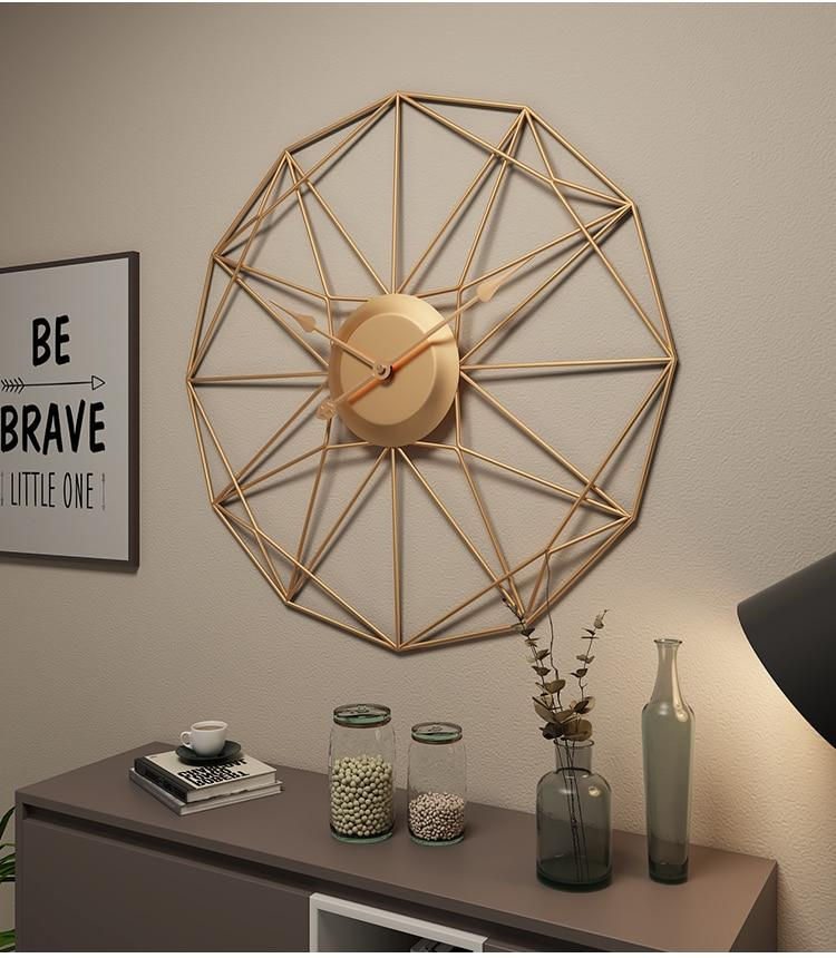 Abstract Nordic Wall Clock