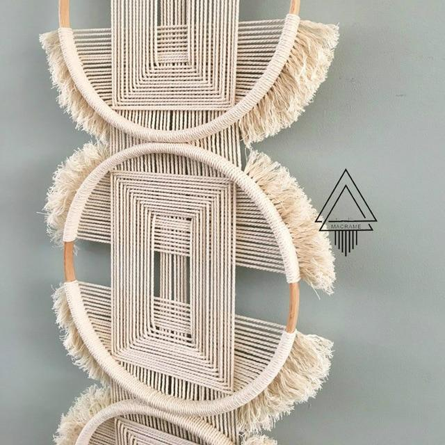 Triple O Large Macrame Tapestry