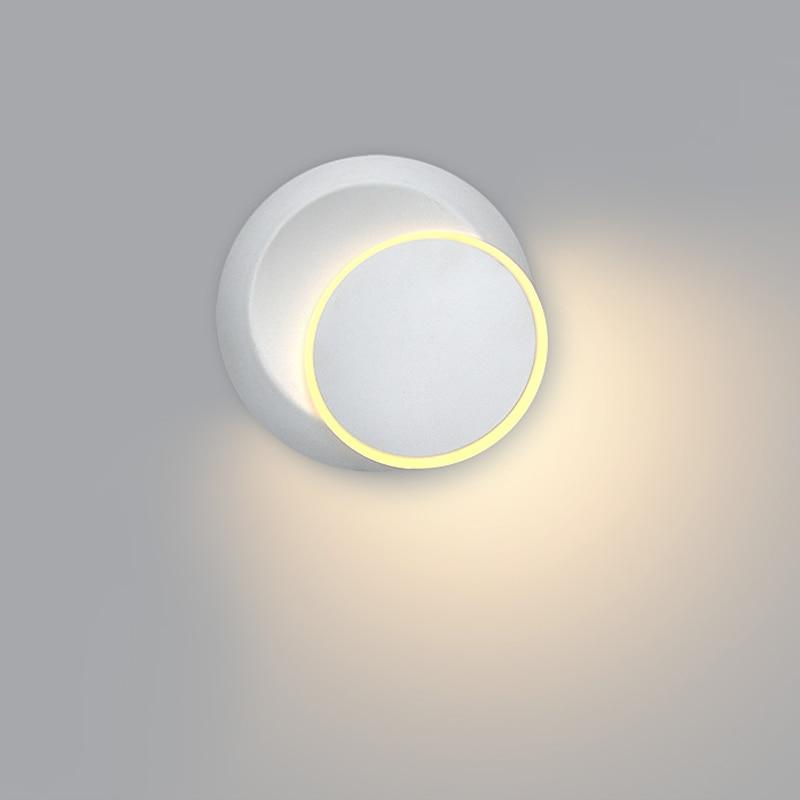 Circular Rotating Modern Wall Lamp