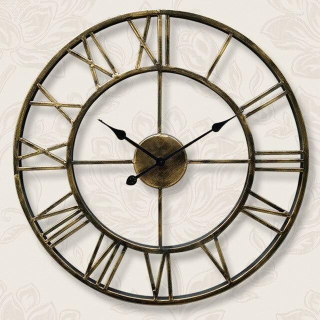 Vintage Industrial Wall Clock