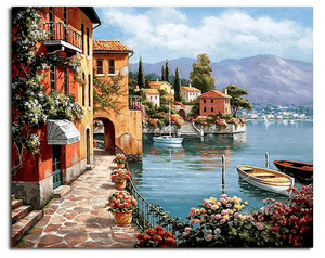 European Harbour DIY Painting by Numbers