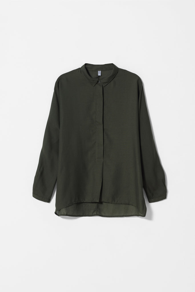 Wide Placket Soft Shirt