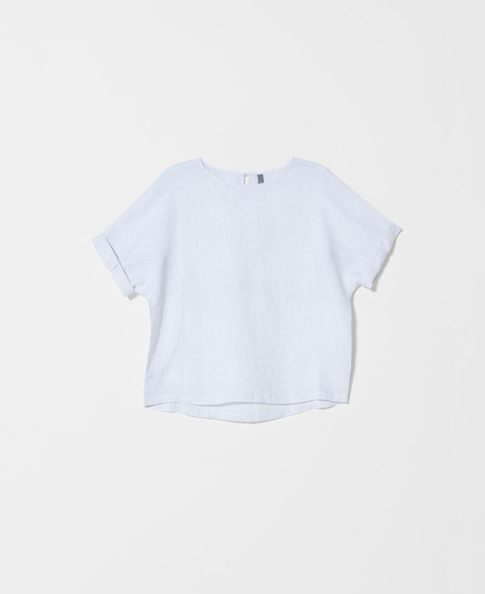 Linen Box Top / White