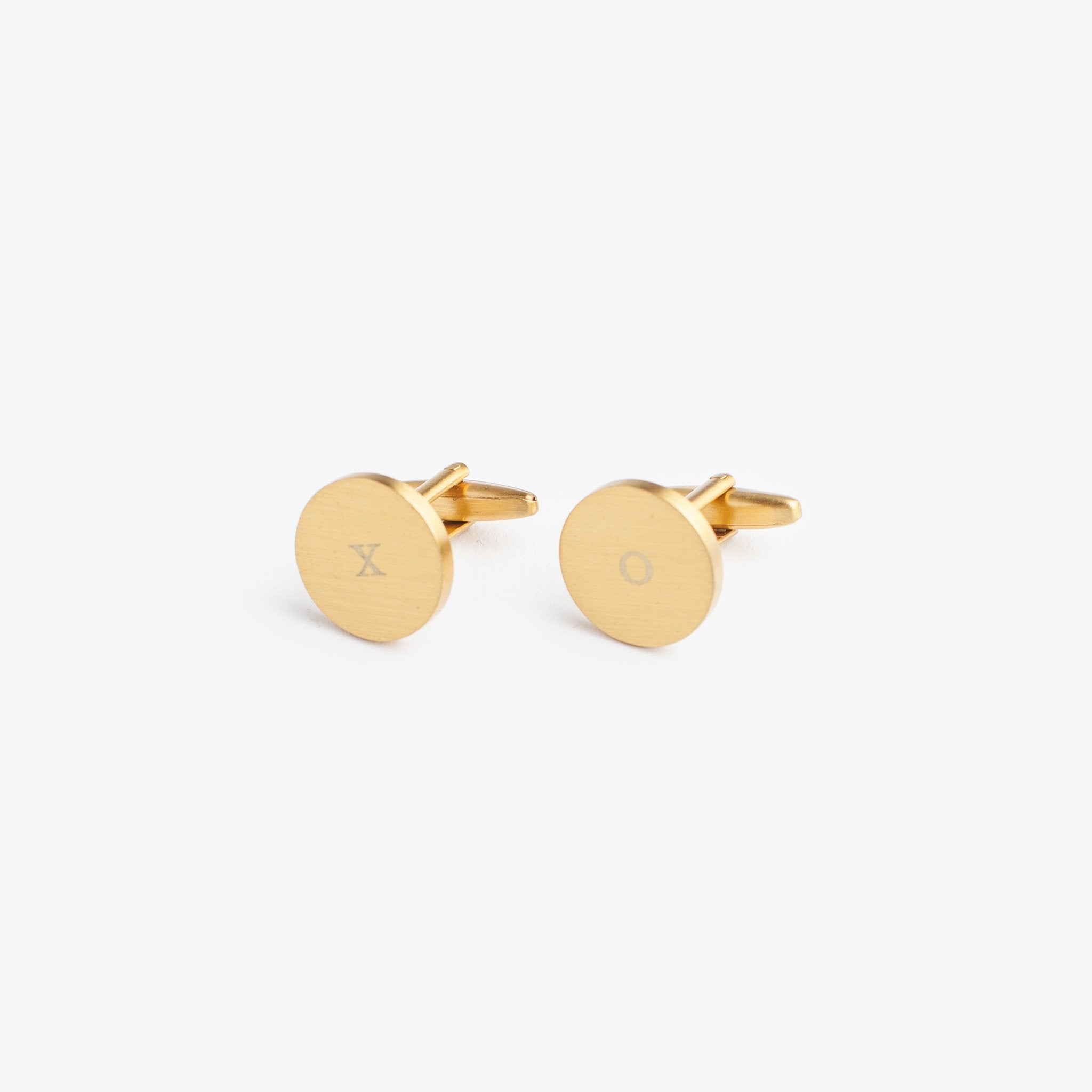 Izola Brass Plated Cuff Links