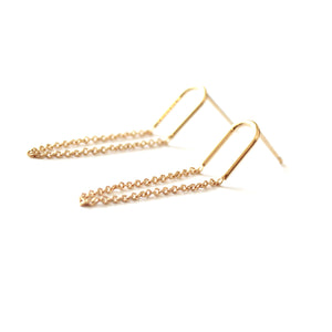 Tai Gold Suspender Earrings