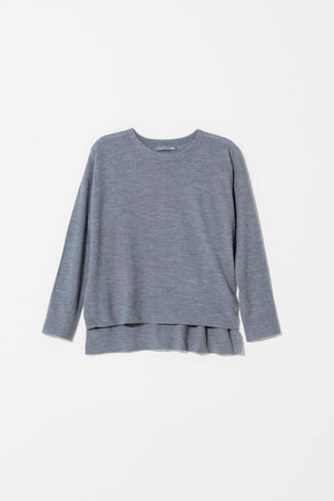 Grey Twist Merino Sweater
