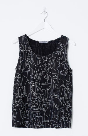 Elk Quarry Print Top