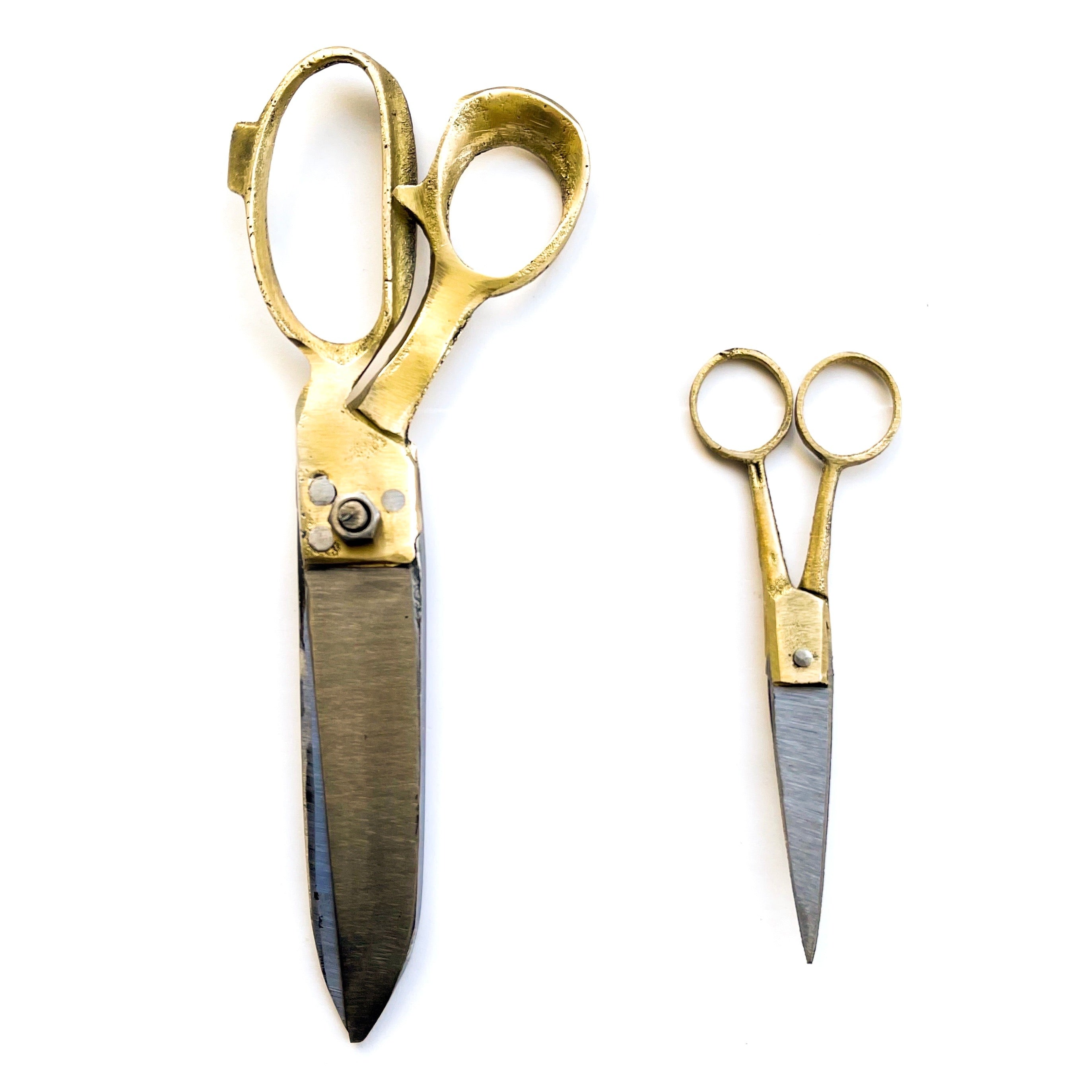 Large Brass Scissors