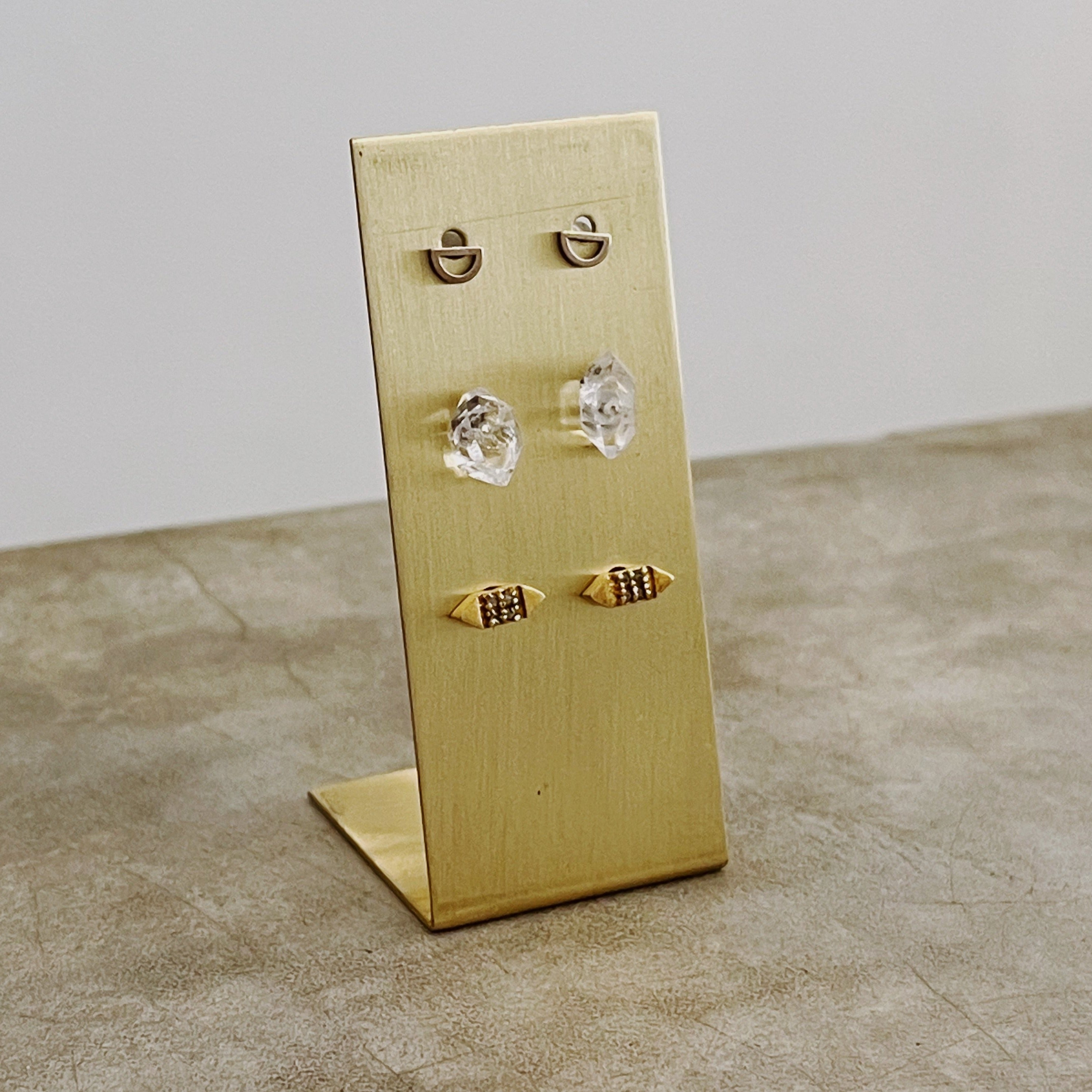 Brass Earring Stand