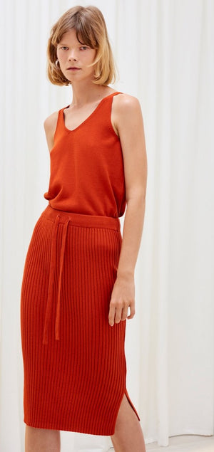 Kowtow - Knitted Rib Skirt