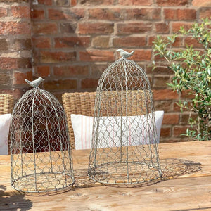 Set of 2 Wire Cloches