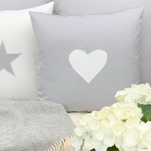 Water Resistant Heart Appliquéd Cushions