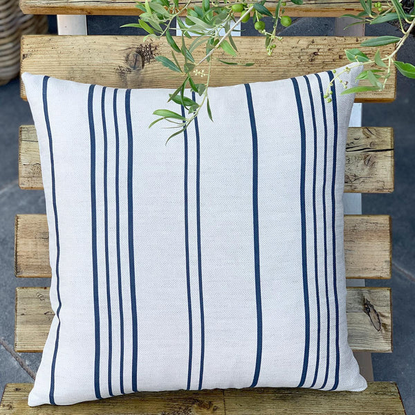 French Ticking Stripe Cushions