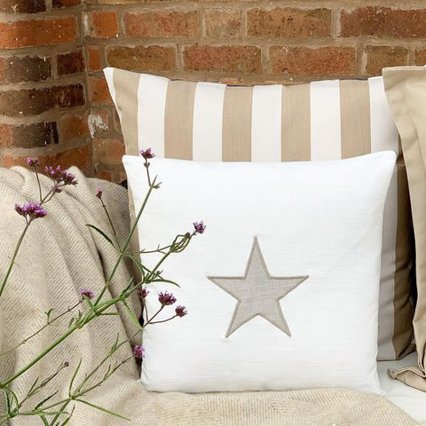 Star Appliquéd Cushion