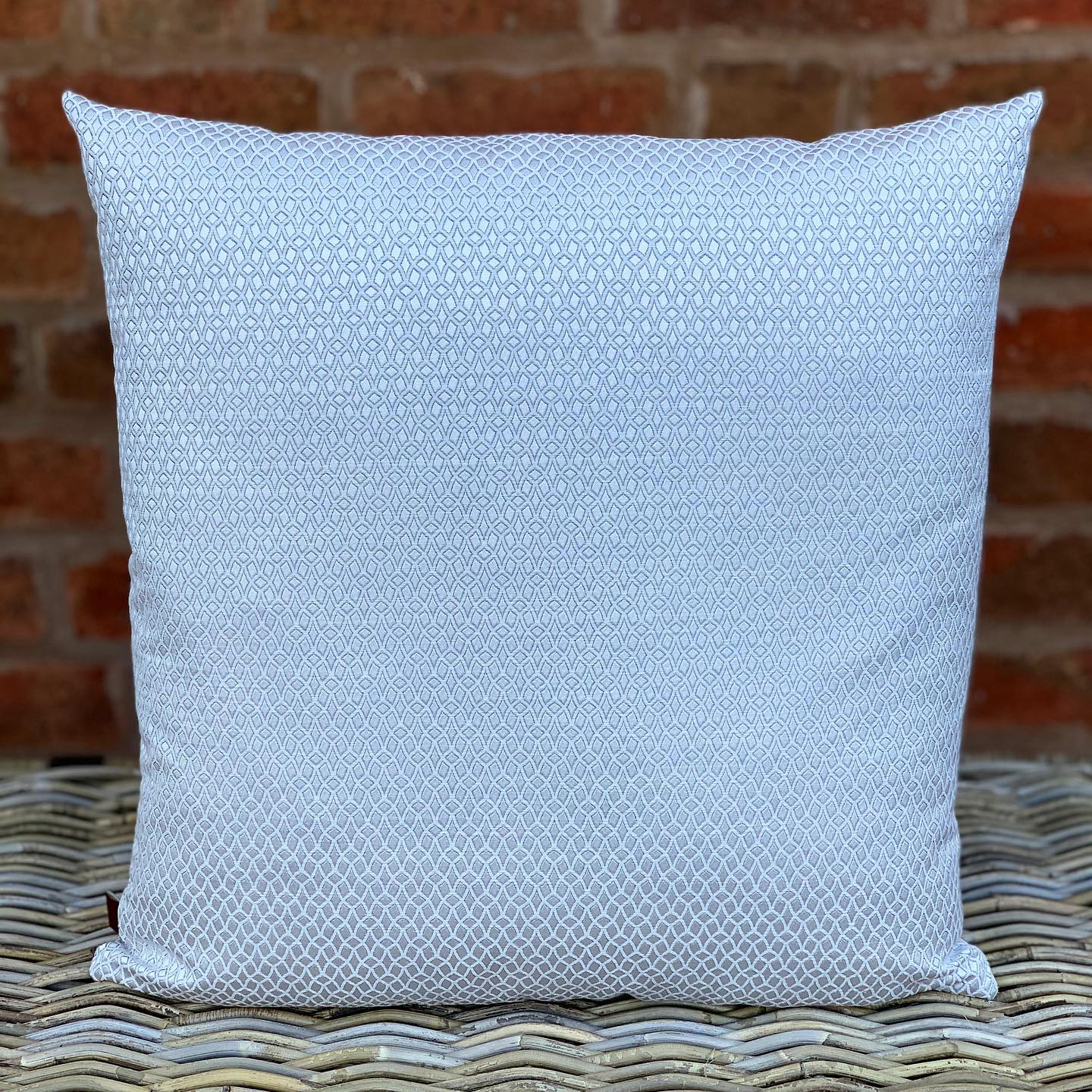 Silver Patterned Cushion