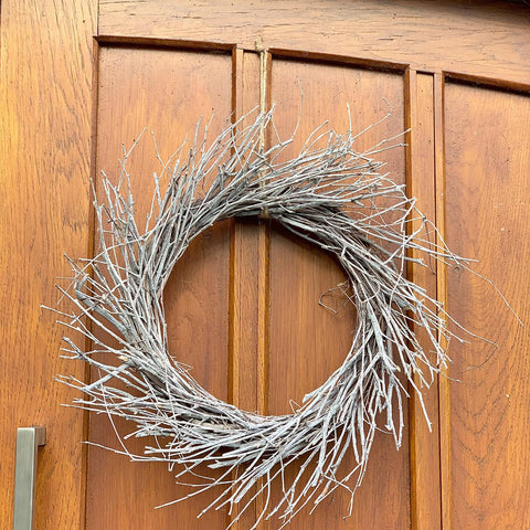 Whitewashed Rustic Birch Wreath