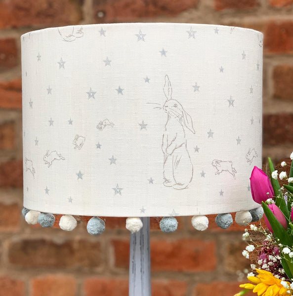 Peony and Sage All Star Rabbit  Lampshade