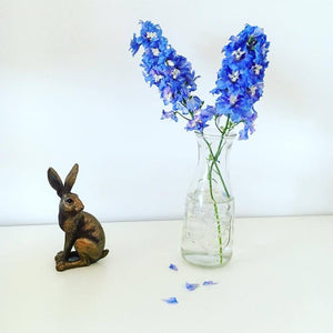 Beautiful Sitting Bronze Hare