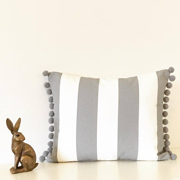 Grey Stripe Cushions