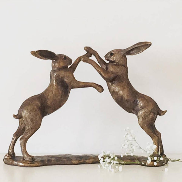 Large Boxing Hares