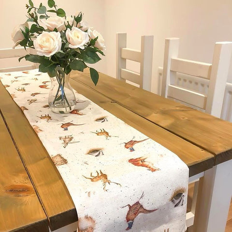 Wrendale Woodland Fabric Table Runner