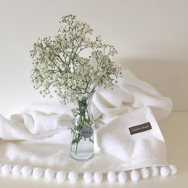 Bath Sheet With Pompoms