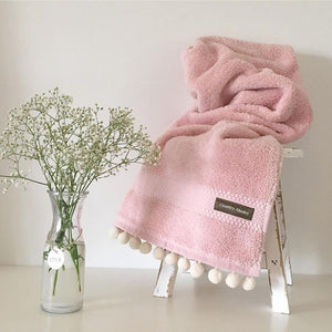 Hand Towel With Pompoms