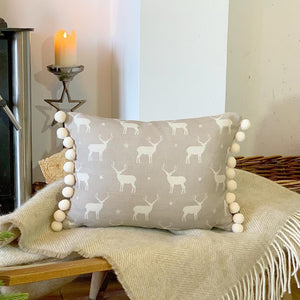 Peony and Sage Stag Cushion