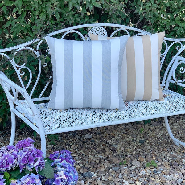 Stripe Water Resistant Cushions