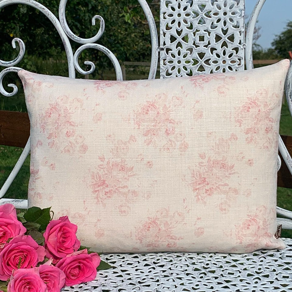 Faded Pink Floral Cushions
