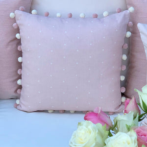 Pink and White Spots Cushions