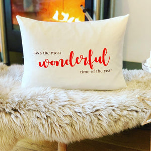 The Most Wonderful Time The Year, Christmas Cushion