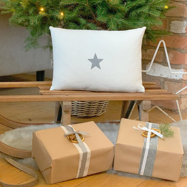 Hand Printed Star Cushion