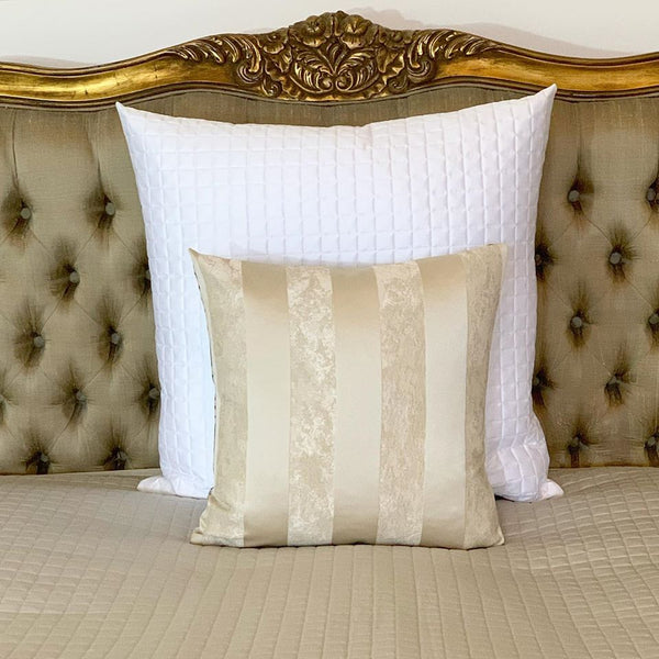 Egyptian Cotton Check Quilted Sham Cushions