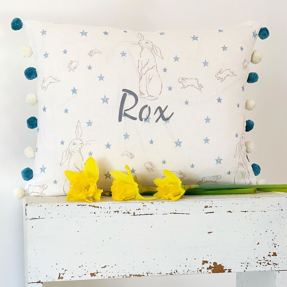 All Star Rabbit Personalised Cushion