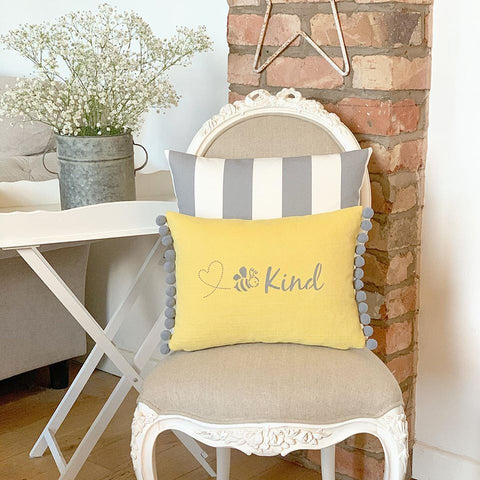 Bee Kind cushion