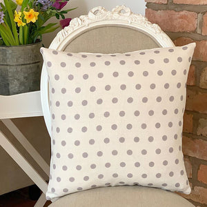Large Grey Spot Cushion