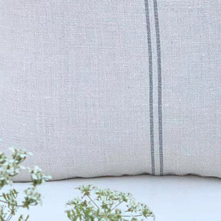 Grainsack Charcoal Stripe Cushions