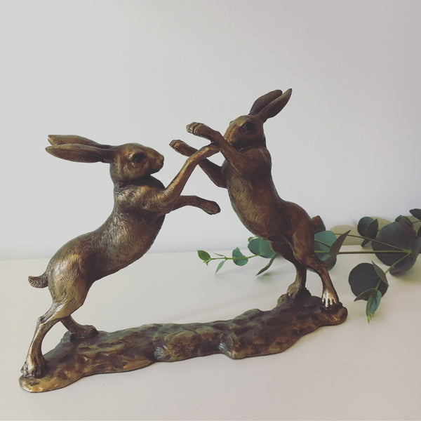 Boxing Hare ornament