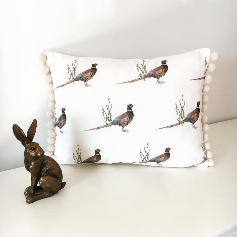 Pheasant Print Cushion