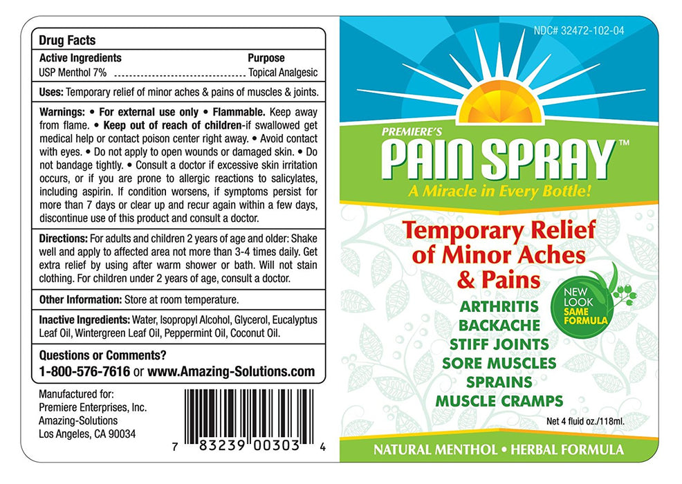 Premiere's Pain Spray Mix & Match 12-Pack