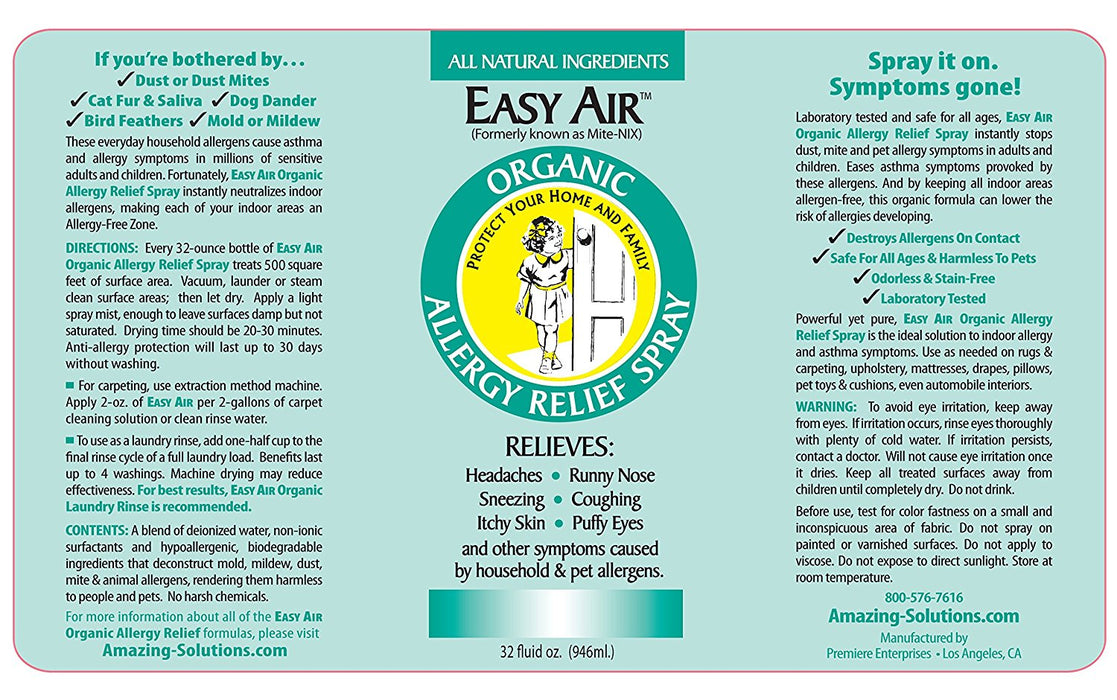 Easy Air Organic Allergy Relief Spray REFILL
