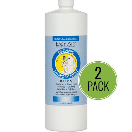 Easy Air Organic Allergy Relief Laundry Rinse REFILL 2-Pack