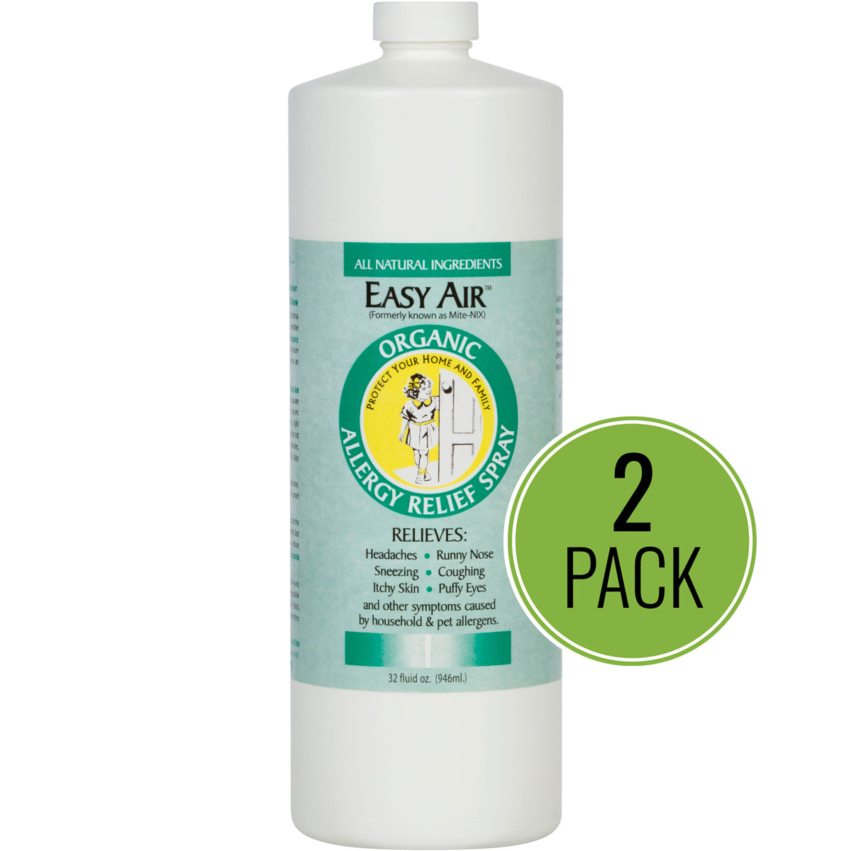 Easy Air Organic Allergy Relief Spray REFILL 2-Pack