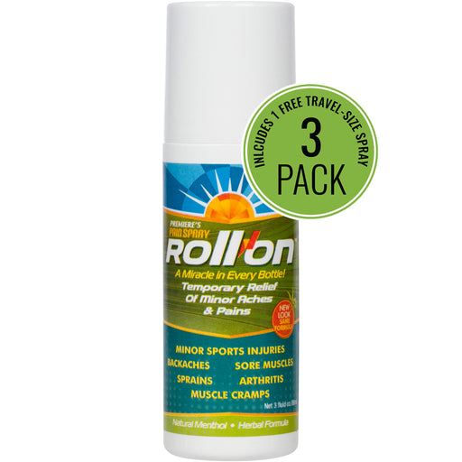 Premiere's Pain Spray Roll-On 3-Pack