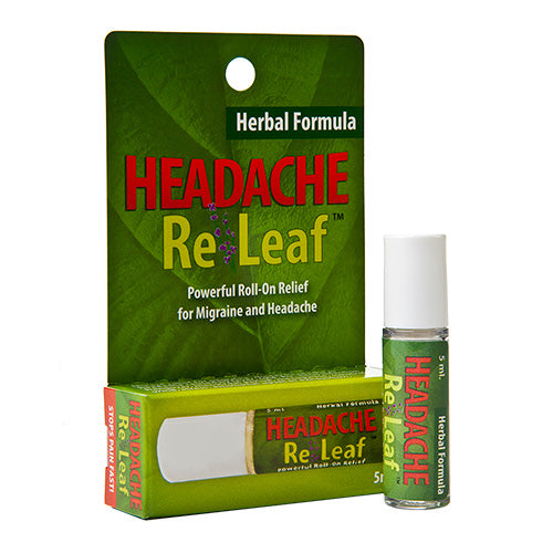 Headache ReLeaf - Powerful Roll-On Relief for Migraine and Headaches