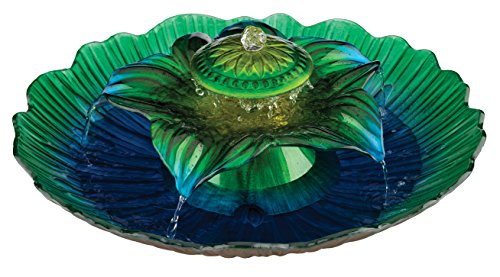 3-Tier Fountain, Blue/Green, 20-Inch