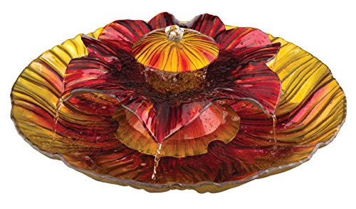 3-Tier Fountain, Red/Amber, 20-Inch