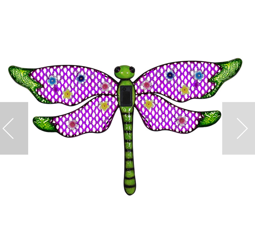 Solar Dragonfly Wall Art