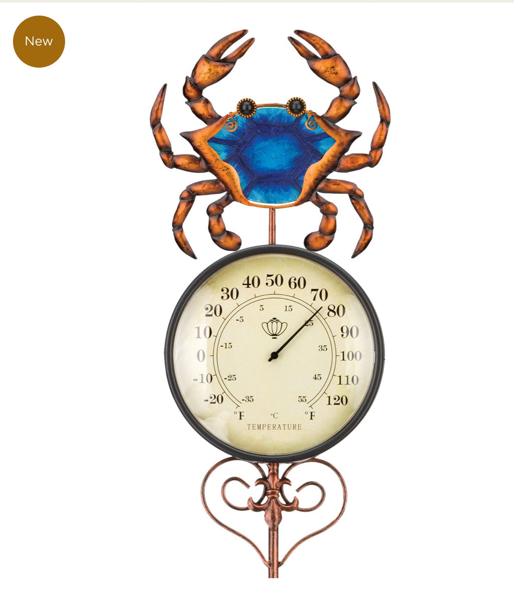 Crab Thermometer Stake